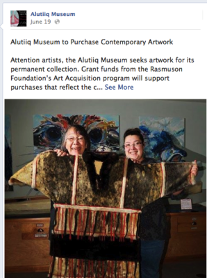 Women share Alutiiq costume